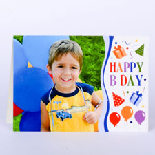 Custom Printed Happy B Day Boy Greeting Card
