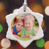 Personalized Sparkling Snowflake Ornament
