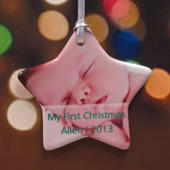 Personalized Our Shining Star Shaped Ornament