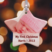 Personalized Stardust Sweet Girl Star Shaped Ornament
