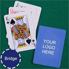 Custom Printed Bridge Size Playing Cards Standard Index