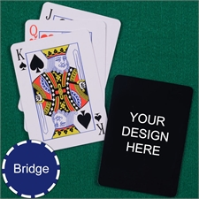 Print Your Design Bridge Size Playing Cards Standard Index