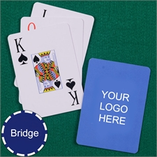 Custom Printed Bridge Size Playing Cards Jumbo Index