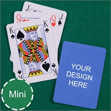 Print Your Design Mini Size Playing Cards Bridge Style