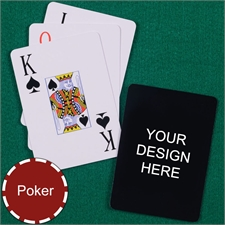 Personalized Design Poker Jumbo Index Playing Cards