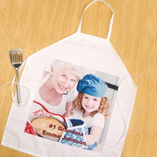 Square Photo Personalized Adult Apron