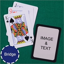 Bridge Size Playing Cards Standard Index Black Border