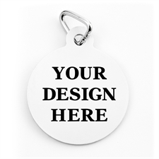 Custom Printed Personalized Round (Custom 1 Side) Dog Or Cat Tag
