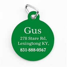 Custom Printed Christmas Green Personalized Message Dog Or Cat Tag