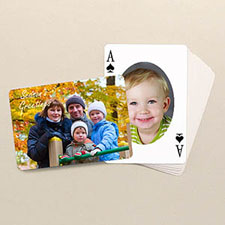 Holiday Poker Size Ovate Custom 2 Sides Landscape Back