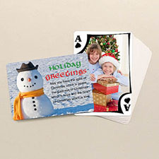Holiday Poker Size Modern Custom 2 Sides Landscape Back