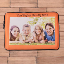 Custom Macbook Air 13 Sleeve, Orange Border