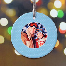 Personalized First Christmas Polka Dots Ornament
