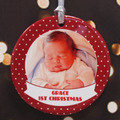 Personalized Jolly Polka Dots Ornament