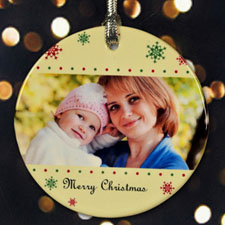 Personalized Bubbles Of Snowflakes Ornament