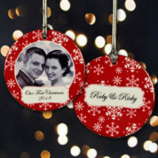 Personalized Snowing Christmas Ornament