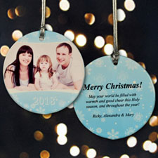 Personalized Flurry Of Snow Ornament