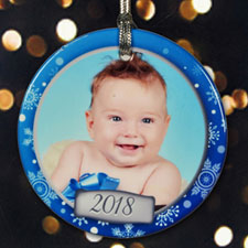 Personalized Joyful Snowflakes Ornament