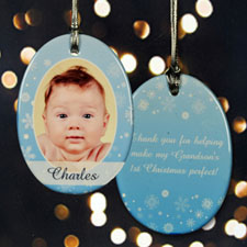 Personalized Cheery Snowflakes Ornaments
