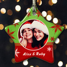 Personalized So Snowflake Star Shaped Ornament