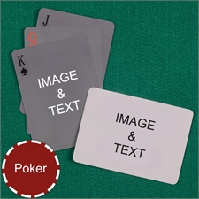 Poker Simple Custom 2 Side Landscape Playing Cards