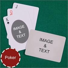 Poker Ovate Custom 2 Side Landscape Playing Cards