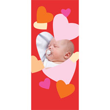 Personalized Frame Of Hearts Lenticular Bookmark