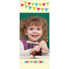 Personalized Flag Bunting Birthday Lenticular Bookmark