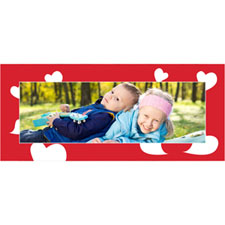 Personalized Many Hearts Lenticular Bookmark
