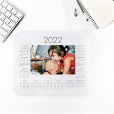 Photo Mouse Pad 2018 Calendar, White