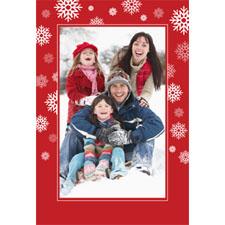 Personalized Falling Snowflakes Lenticular Greeting Card