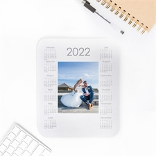 Custom Printed Portrait Calendar 2019 White Mouse Pad