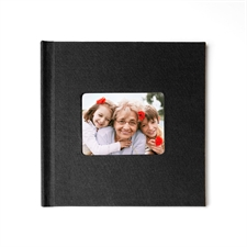 Personalized 12X12 Black Linen Hard Cover Photo Book