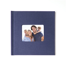 Personalized 12X12 Navy Linen Hard Cover Photo Book