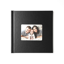 Personalized 12X12 Black Leather Hard Cover Photo Book