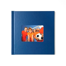 Design Your 8X8 Navy Leather Hard Cover Photo Book