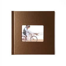 Design Your 8X8 Brown Leather Hard Cover Photo Book