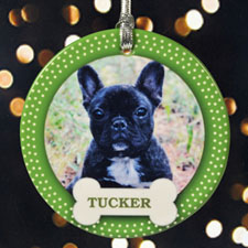 Four Legged Friend Personalized Photo Porcelain Ornament