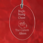 Personalized Laser Etched From Our Hearts Glass Ornament