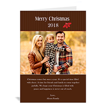 Custom Printed Holly Spring Christmas Greeting Card