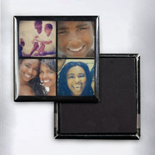 Black Four Collage Instagram Photo Square Photo Magnet