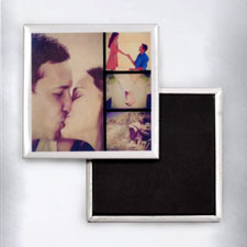 Four Collage Instagram Photo Square Photo Magnet