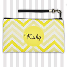 Personalized Modern Yellow Chevron 5.5X10 Clutch Bag (5.5X10 Inch)