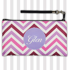 Personalized Modern Lavender Chevron 5.5X10 Clutch Bag (5.5X10 Inch)