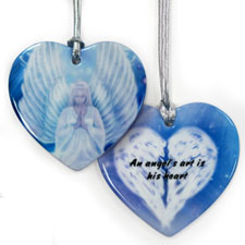 Personalized Custom Soulful Heart Shaped Ornament
