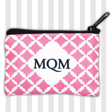 Hot Pink Monogram Clover