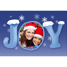 Personalized Behold Joy Lenticular Greeting Card