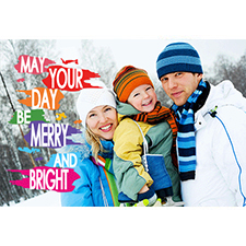 Personalized Merry And Bright Lenticular Greeting Card