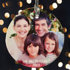 Our Loving Family Personalized Photo Porcelain Ornament