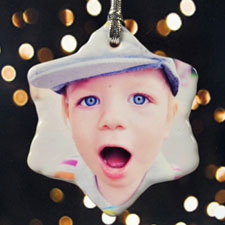 Personalized Precious Photo Snowflake Ornament